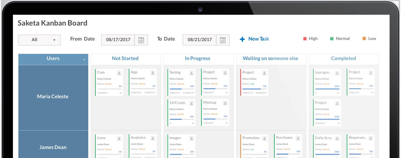 Saketa SharePoint Kanban Board App | Web Part