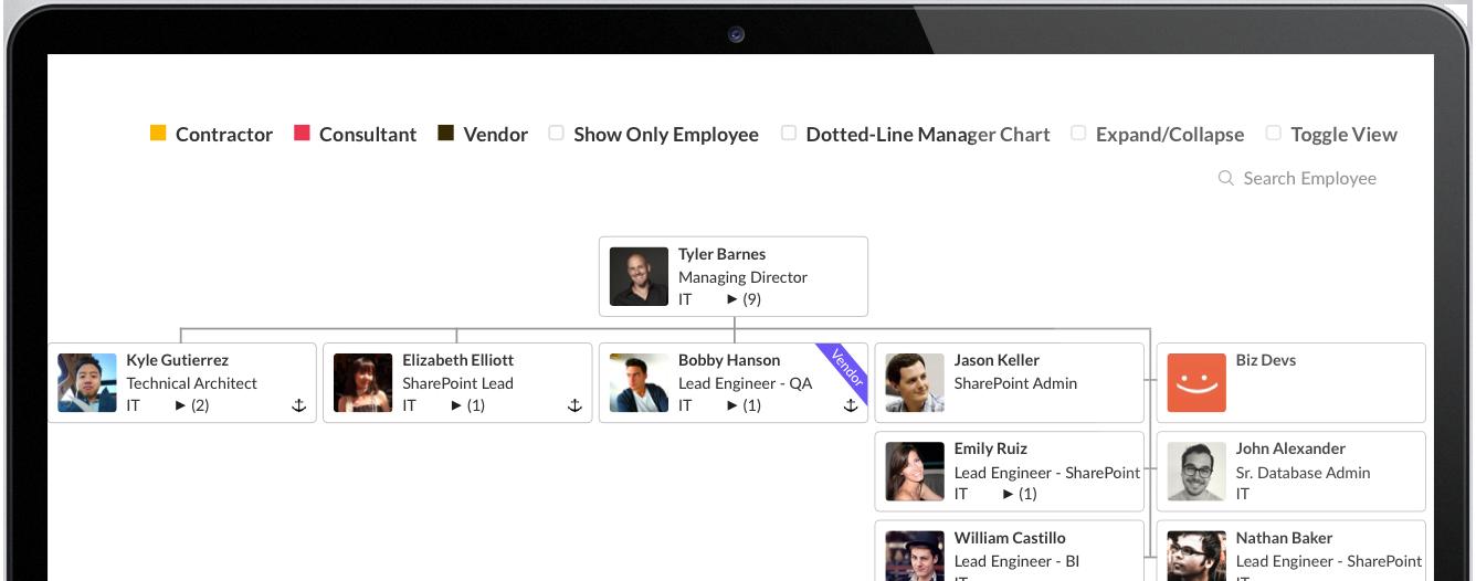 try saketa organization chart for free - Organization Chart App