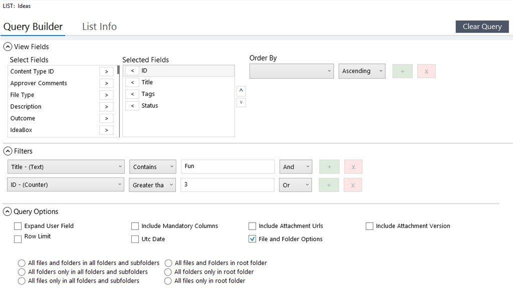 saketa sharepoint caml query builder