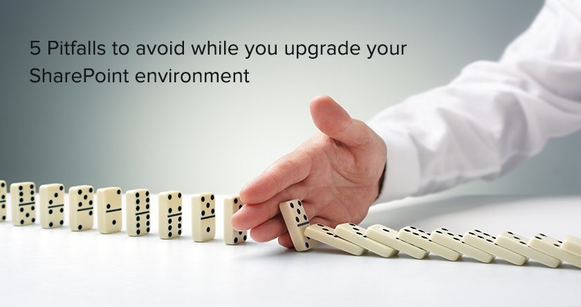 5 Pitfalls to avoid while you upgrade and migrate your SharePoint environment, this article is must read for SharePoint developers, architects who are looking for upgrading their environment to SharePoint 2016
